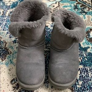 Grey Ugg Boots with buttons